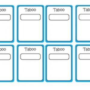 Blank Taboo Cards