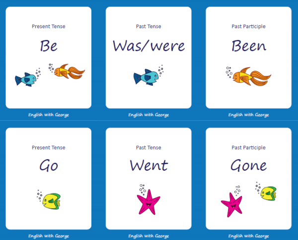 Go-Fish-Irregular-Verbs-Card-Game - English with George 2