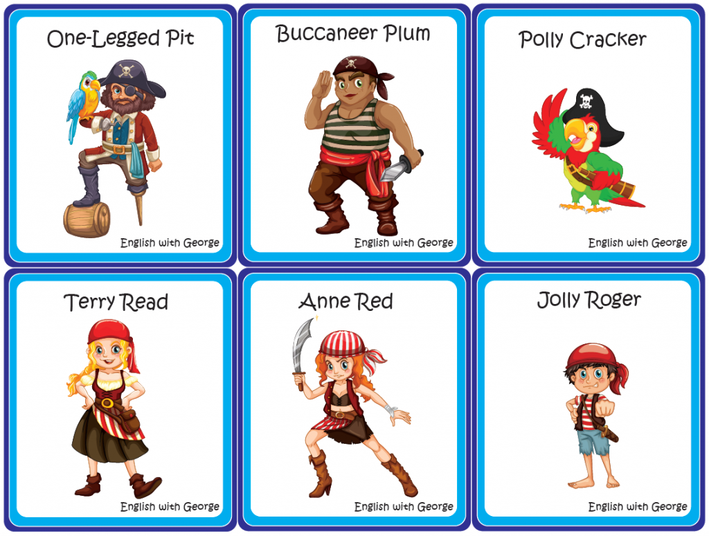 Pirate Cards - Who stole the Ruby? - English with George