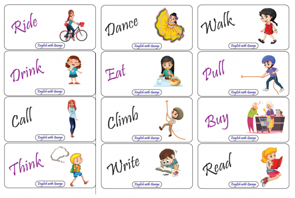 Practice and review tenses card game 2- English with George